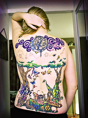 A Work In Progress (Kerrie Lynn Photography (Sugaree_GD)) Tags: trees woman moon tattoo female clouds forest stars back colorful butterflies fairy views faery swirls fairies piece 10000 faeries fae amybrown tattooed staceysharp sugareegd inkalternative keirwells