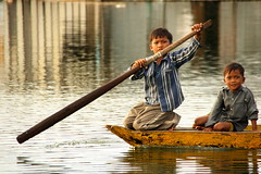 Lake Boys (Cambodia) (nabilkannan) Tags: reflection boys boat asia cambodia khmer awesome lakeside phnompenh emotions reflexions breathtaking visittheworld travelphotography combodge travelshots flickrspecial mywinners abigfave impressedbeauty superlativas boengkaklake shotsthatrockasia boatboys kumpuchea lakeboys