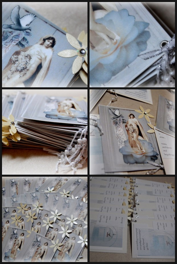 white itty bitty book pages - mosaic