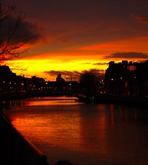 liffey at sunset