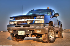 Z71 (HDR) (Mishari Al-Reshaid Photography) Tags: blue cars chevrolet car photoshop truck canon eos automobile desert cs2 dirt event chevy kuwait autos digitalrebel canoneos hdr q8 carphotos carphotography artphoto bluetruck coolcars z71 gtm coolshots carphoto photomatix imagestabilizer 24105mm q80 canonllens xti 400d ef24105 mishari canoneos400d digitalrebelxti canon400d kwtphoto aplusphoto kuwaitphoto kuwaitphotos kuwaitcars kvwc excapture kuwaitartphoto gtmq8 kuwaitart kuwaitvoluntaryworkcenter kuwaitvwc grendizer99 kwtphotocom hyperdynamicrange kuwaitphotography grendizer99photos bluez71 misharialreshaid malreshaid misharyalrasheed