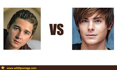 Shia LaBeouf vs Zac Efron (w00tpwnage.com) Tags: men actors battle movies vs faceoff w00t shialabeouf zacefron