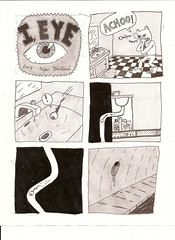 I EYE PAGE 1 (casio_beatnik) Tags: eye comics eyes cyclops rats sewer i tylerstafford superfluouscomics