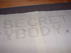 It's a secret (benjibot) Tags: crossstitch crafts videogames nes