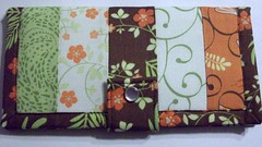 Pieced Wallet (L&B Accessories) Tags: orange green floral handmade wallet fabric fabricwallet nhmade