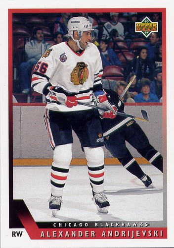 Alexander Andrijevski, Chicago Blackhawks, Upper Deck 93-94, hockey, hockey cards