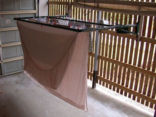 Collapsible Clothesline in our Garage