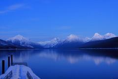 IMG_1778 copy (grafficartistg4) Tags: winter sunset lake mountains cold ice nature weather season sunny glaciernationalpark icy photooftheday wate clearskies lakemcdonald