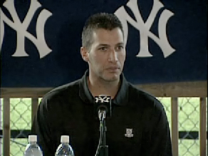 Andy Pettitte at press conference