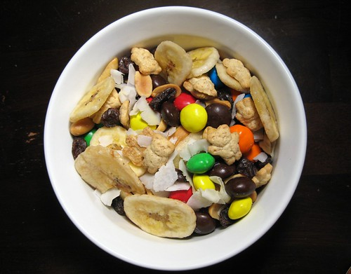 peanut butter m&m trail mix