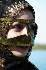 Qeshm, Burqa, Mahsa (Hamed Saber) Tags: sea portrait green girl scarf island golden persian iran traditional hijab mangrove  mahsa beatiful burqa persiangulf qeshm bandarabbas sakaki hormozgan    bandari ghesm   flickr:user=deathlessness deathlessness upcoming:event=418807  borqa harrajungle   marineforest