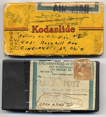 1945 Okinawa 18 (mgsmith) Tags: color vintage soldier war mail military wwii stamp photographs 1945 address postage 1946