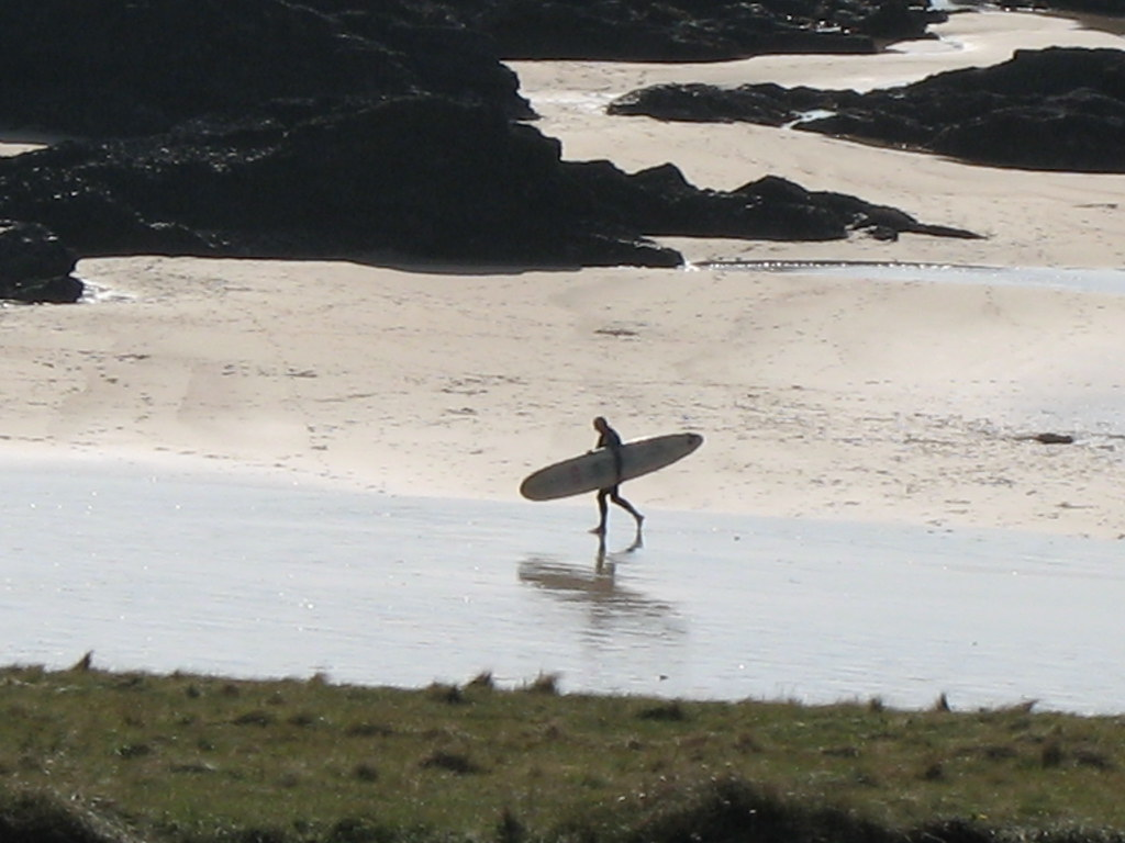 Surfer at Trevone Bay, Cornwall
