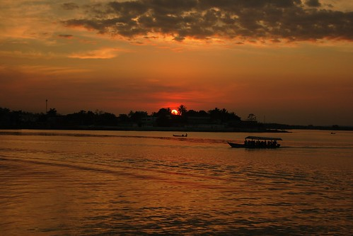 Sunset at Peten Itza Lake