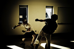 Fight Club (PK's Photo Diary) Tags: college sports club fight martial arts champlain boxing fighting gym sparring