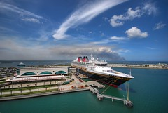 Disney Magic at Port Canaveral (A guy with A camera) Tags: travel cruise vacation water port nikon sailing ship waterfront florida magic sigma terminal disney 1020 canaveral bonvoyage disneycruiseline supershot d80 diamondclassphotographer flickrdiamond
