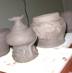pot2 (jenndanza) Tags: mushroom ceramics pottery elves earthenware