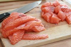 Découpe du saumon