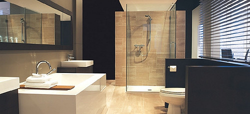 Modern contemporary bathroom interior