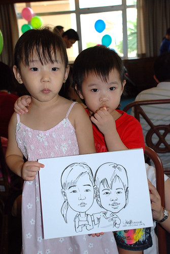 Caricature live sketching Temasek Fun Day 10