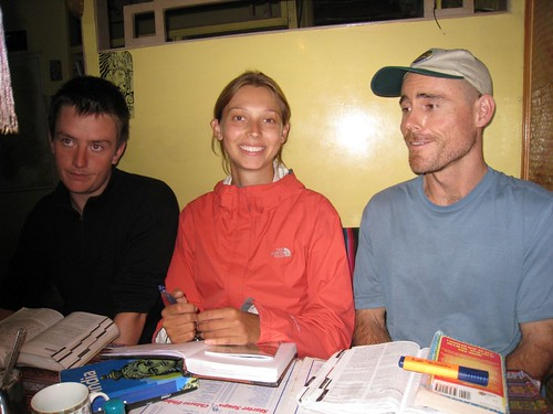 From right - Cameron, Natalie, and Dave in Gangtok, India