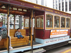 On the cable car, California line