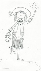 boneca chapu (AP.CAVALARI / ANA PAULA) Tags: color watercolor cores ana draw sonho desenho grafite aquarela anapaula lpisdecor cavalari anapaulacavalari apcavalari