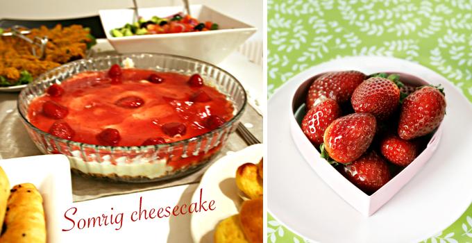 Somrig cheesecake med färska bär