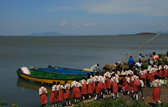 Overlooking Lake Victoria on a field trip to Rusinga Island