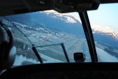 Landing in Juneau on Runway 8
