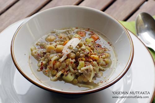 Sebzeli Yeşil Mercimek Çorbası