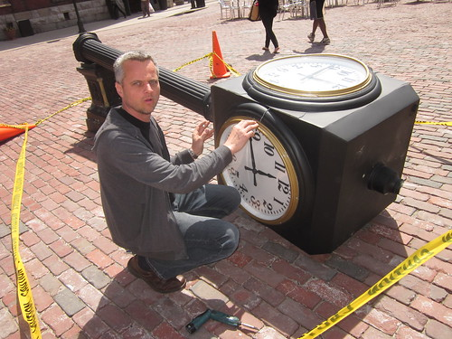 the distillery district clock in Toronto needs a replacement.
