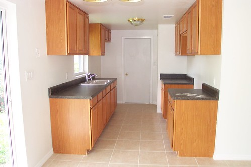 The kitchen at move-in