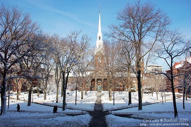 [美國。波士頓]走進名校哈佛大學。雪覆哈佛園(USA美東系列)