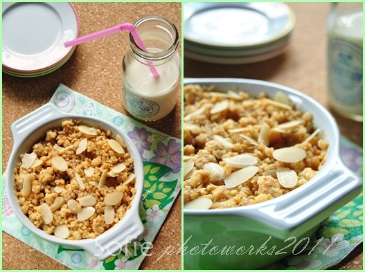 Baked apple crumble