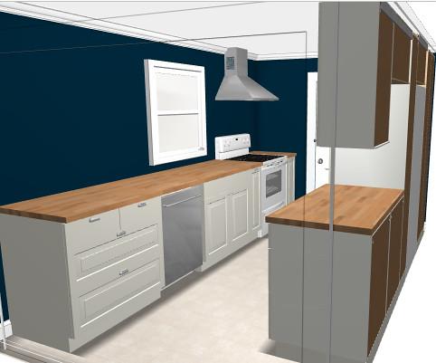 Left Side New Kitchen