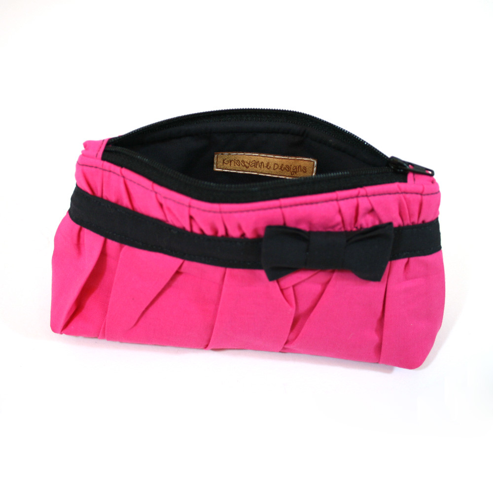 Pink and Black Cosmetic Bag