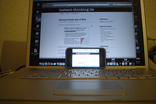 instant-thinking on iPhone and MacBook Pro