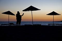 "You and me are one (or ""teaching to do photographies"") (c.silk) Tags: love beach night atardecer peace amor paz playa serenity teach amistad fotografa unin serenidad ensear abigfave"