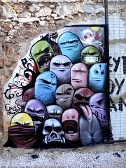 Monsters (server pics) Tags: street urban color art halloween monster wall painting greek graffiti paint artist athens greece grecia pacman writers painter heads writer monsters grce athene pintura  grafite  griekenland athnes        athensstreetart serverpics destroyathens greekartist remapkm