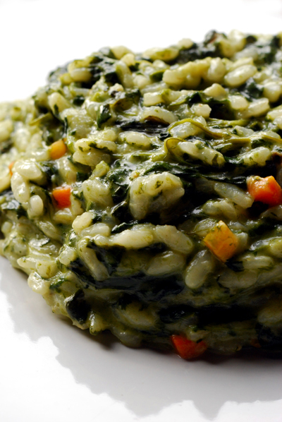 spinach risotto