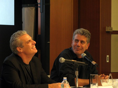 Tony Bourdain and Eric Ripert at their seminar on the Life of a Chef