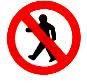 Trânsito de pedestres proibido
