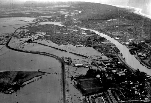 Gt Yarmouth 1953 flood, Ariel Photograph
