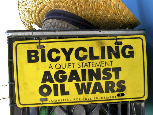 Bicycling, A Quiet Statment Against Oil Wars
