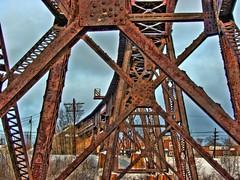 Steel Beams (Dean Martin (Thirdeyepics)) Tags: bridge train steel structure beams hdr trussel anawesomeshot