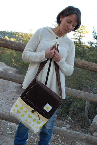 messenger bag pear and corduroy 2