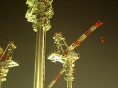 moving above (matsugoro) Tags: light night digital tokyo 28mm olympus zuiko yurakucho constraction e410