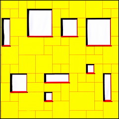 Mellow yellow (Maerten Prins) Tags: windows abstract yellow wall architecture composition nijmegen square university no radboud explored