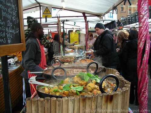 Food stalls at Camden Market